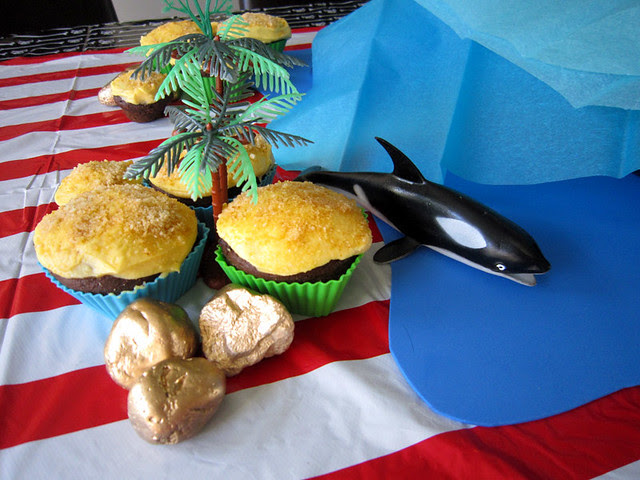 Pirate Birthday Party Cupcake Islands Shark - web