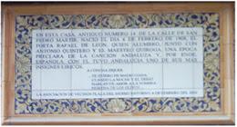 Imagen de Azulejo: Nace Rafael de León