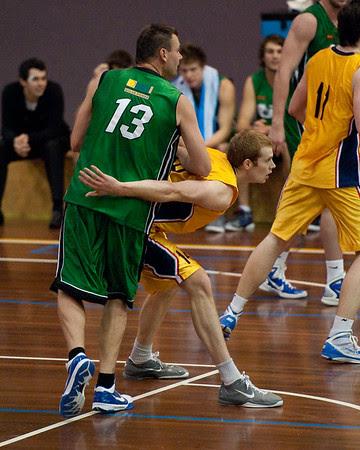 Tom Garlepp, Scott McGregor - QBL Quarter Final Basketball: Gold Coast Rollers v Brisbane Capitals; Carrara, Gold Coast, Queensland, Australia. Photos by Des Thureson:  http://disci.smugmug.com.