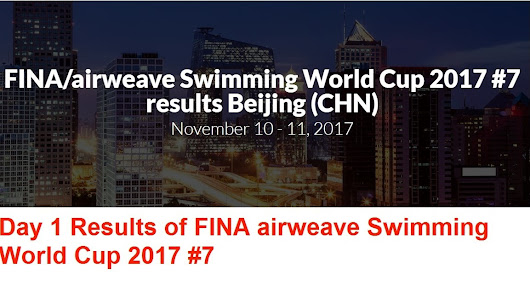 Day 1 Results of FINA/airweave Swimming World Cup 2017 #7