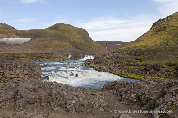 06D-0891 TEMP The Kaldaklofskvisl River Iceland.