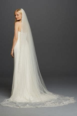 One Tier Cathedral Sequin Embroidered Edge   David's Bridal