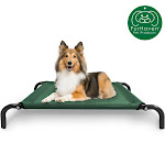 FurHaven Pet Cot Bed   Elevated Cot Pet Bed For Dogs & Cats (Forest, Small)