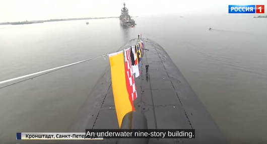 Russia Shows off the World's Largest Submarine During Navy Day Parade