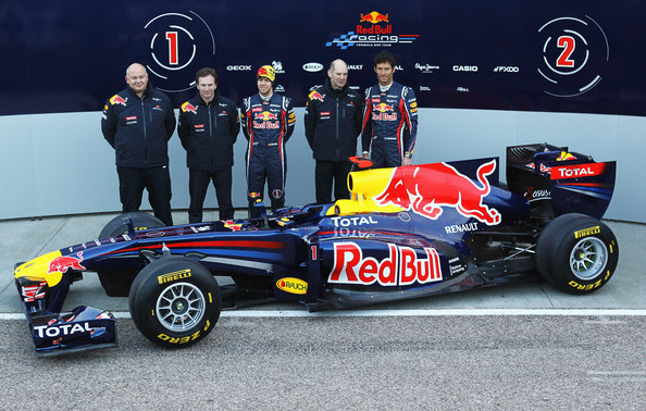 Sebastian Vettel and Adrian Newey - Red Bull F1 Launch