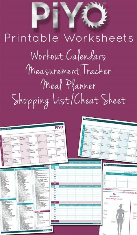 piyo printable worksheets meal planner piyo strength