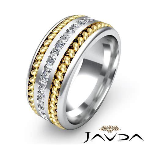 1 Carat Channel Diamond Rope Design Men's Eternity Wedding