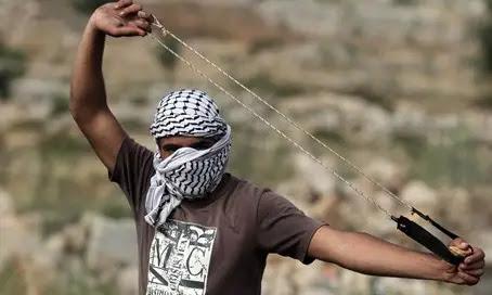Rock-throwing terrorist