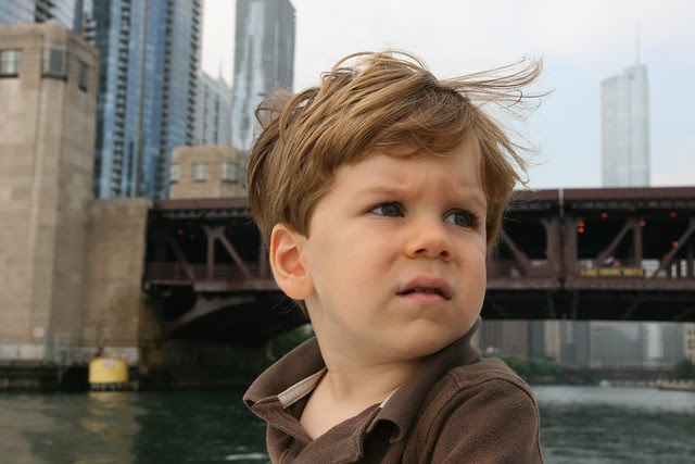 Oliver on the water taxi