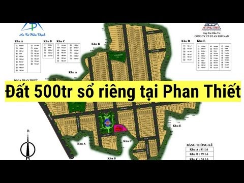 Khu dân cư An Phú Phan Thiết, sổ hồng riêng, Full thổ cư giá 500tr/100m2
