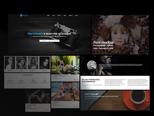 Photographer Html Templates ~ HTML/CSS Themes on Creative Market