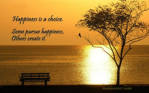 Happiness Is A Choicesome People Pursue Happiness Others Create It