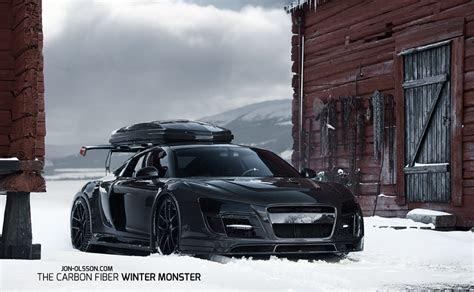 Black on Black with a Ski Rack: Jon Olsson's Audi R8   6SpeedOnline