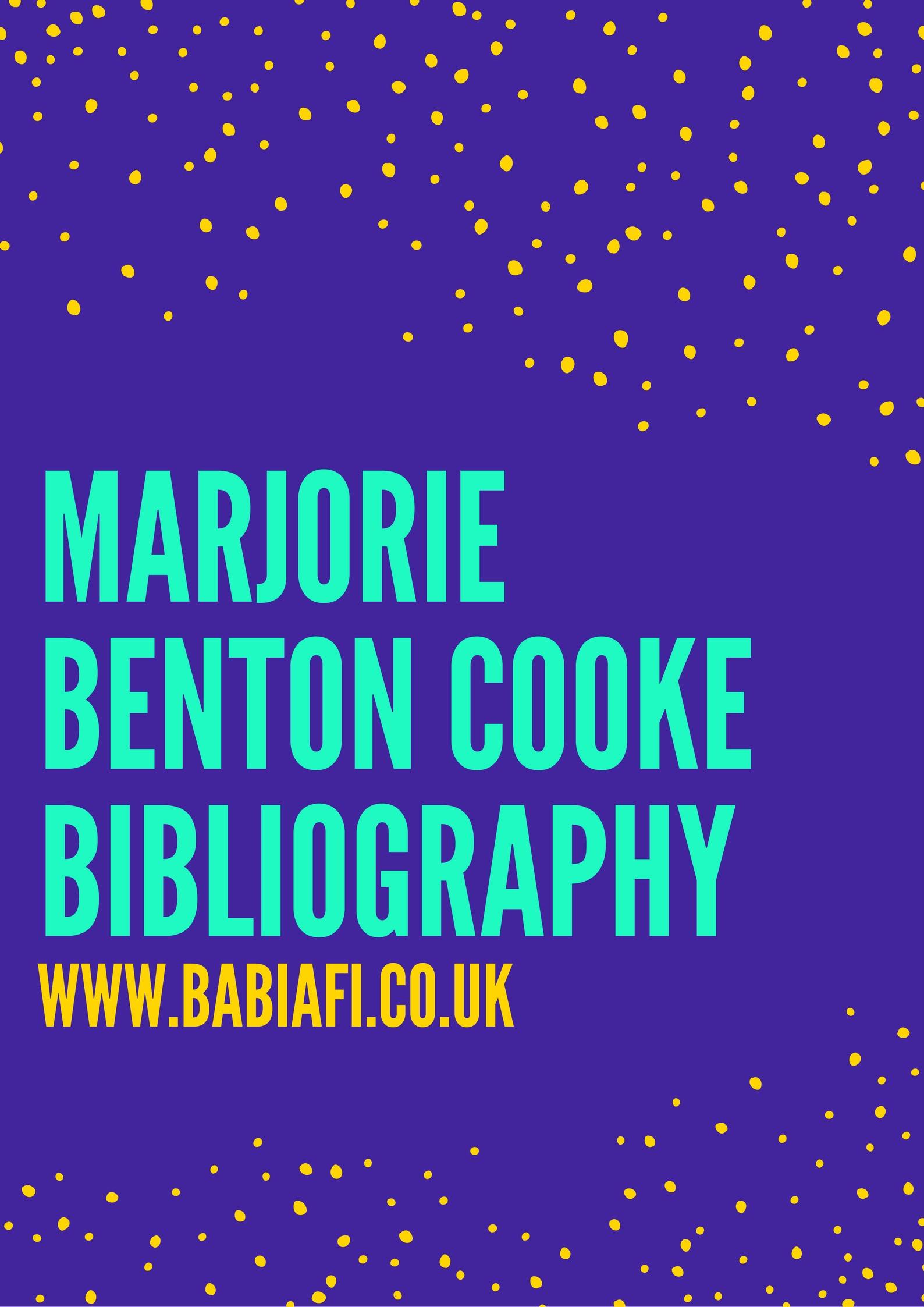 Marjorie Benton Cooke Bibliography