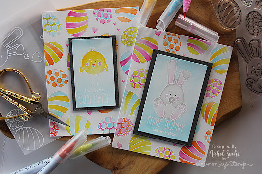 Watercolor Easter Cards - March 2017 Some Bunny Card Kit Inspiration - Simon Says Stamp Blog