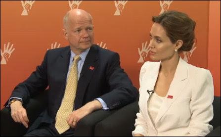Willam Hague with Angelina Jolie
