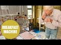 Mechanic Invents Rube Goldberg Style Breakfast Making Machine - Video
