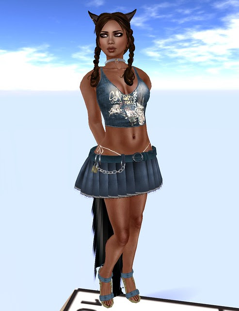 Babele Fashion midnight mania gift jeans girl graffiti blue April 27 2011