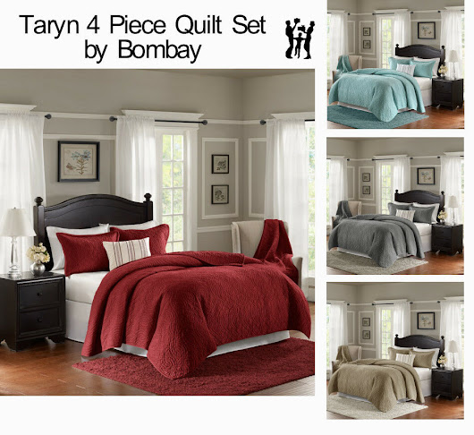 Details about Taryn 4 Piece Quilt Set by Bombay