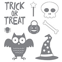 Howl-o-ween Treat Wood-Mount Stamp Set by Stampin' Up!