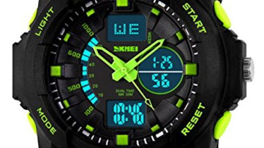 Kid LED Watch Child Boy Girl Sport Multi Function Digital Waterproof Electronic Quartz Watches Green | Creative Products
