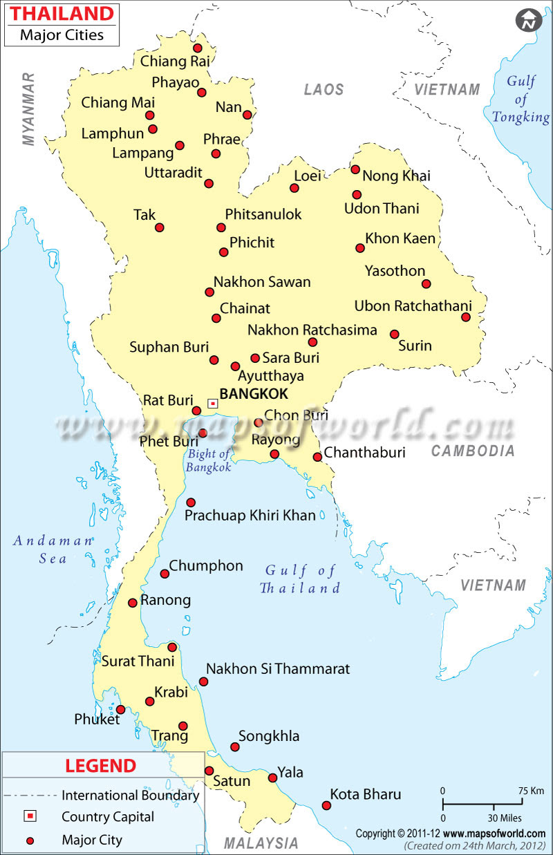 Slobbery image in printable map of thailand