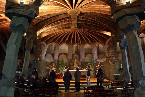 Colònia Güell by Antoni Gaudí in Barcelona, Spain