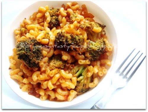 Garlicky Broccoli Elbow pasta