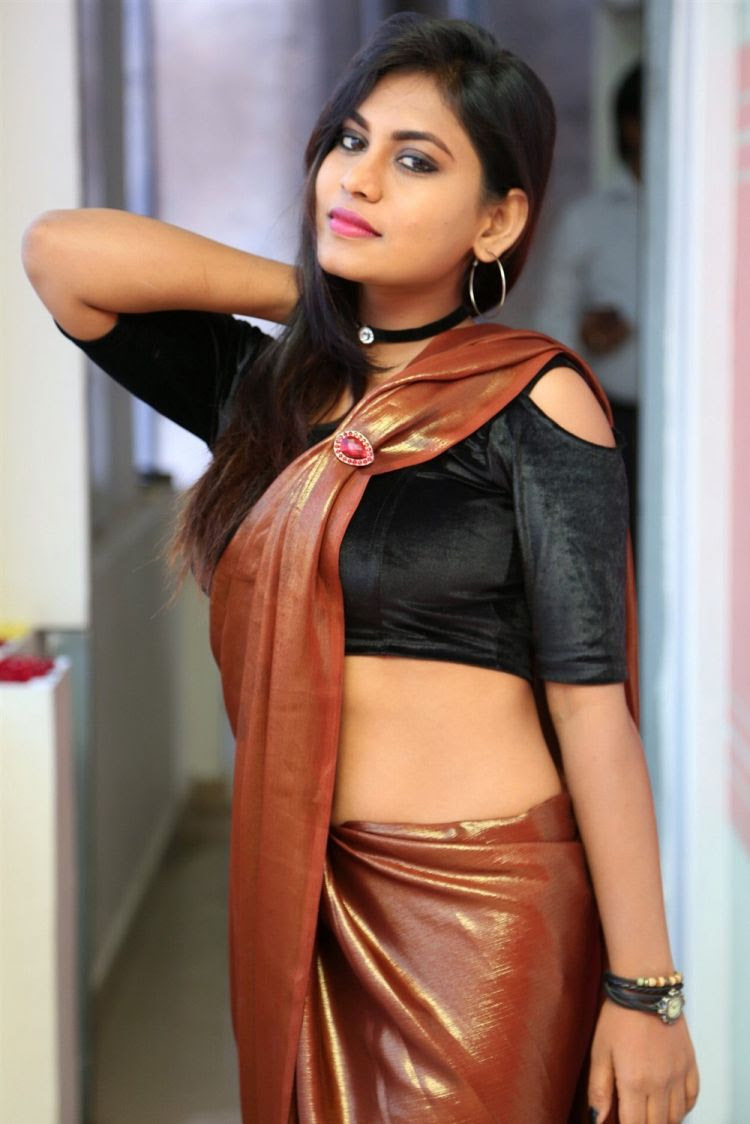 Telugu Actress Priya Augustin Hot Saree Photoshoot Stills 10