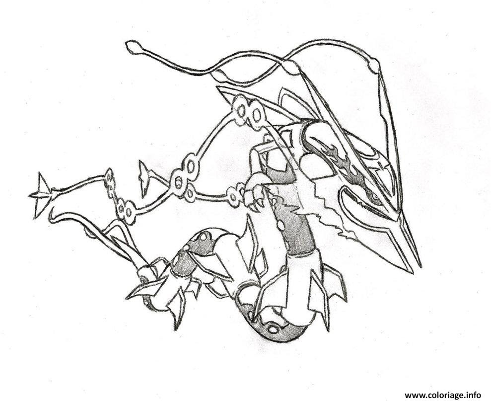 Coloriage pokemon mega rayquaza 6