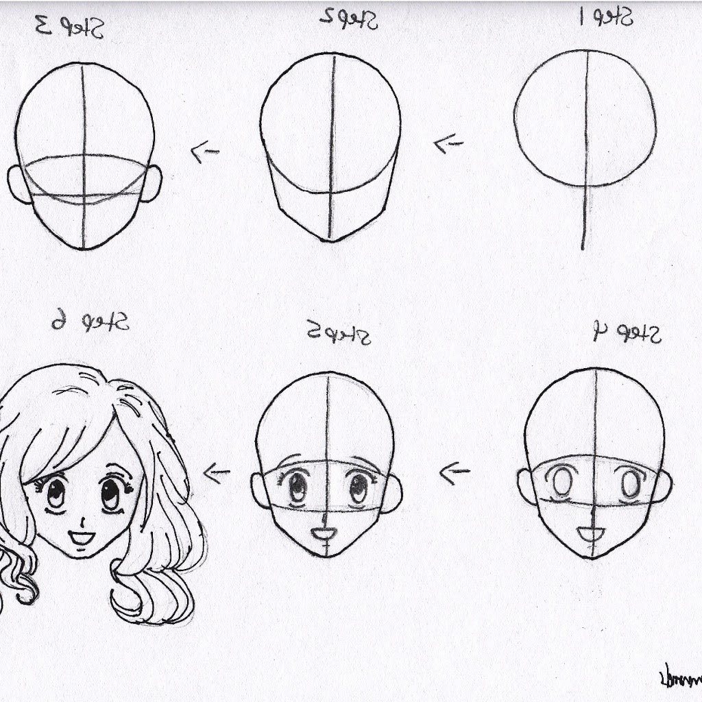 Anime Girl Face Drawing Easy Step By Step - Get Images Four