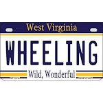 Smart Blonde MP-6542 7 x 4 in. Wheeling West Virginia Novelty Metal Motorcycle Plate