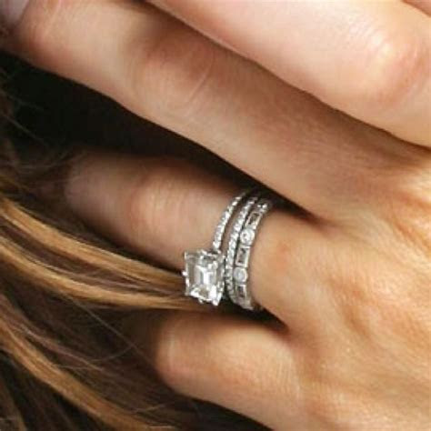 Kate Beckinsale's east west emerald cut engagement ring
