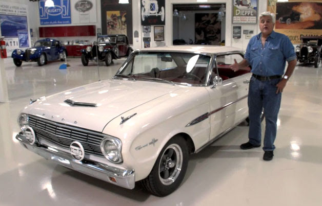 Jay Leno with his new 1963.5 Ford Falcon Sprint