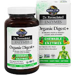 Garden of Life Dr. Formulated Enzymes Organic Digest+ Tropical Fruit, 90 Chewables