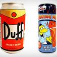 The Simpsons Duff Beer & Flaming Moe Energy Drinks