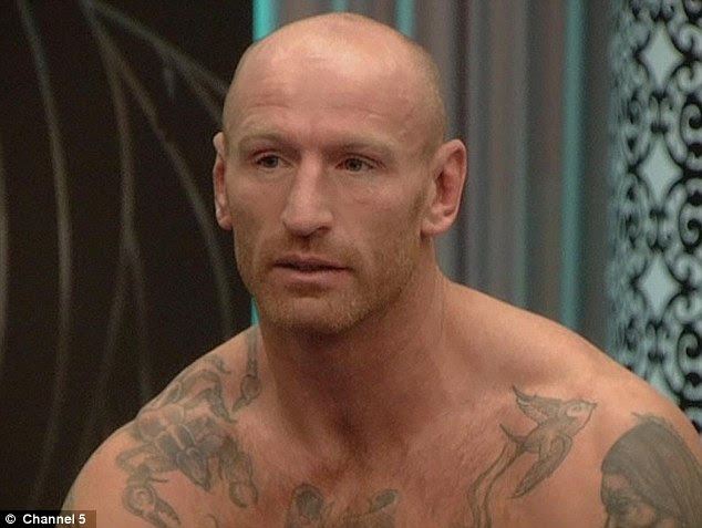 Beefcake: Gareth Thomas is one of the more burly men inside the house... with an incredibly ripped body