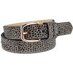 The British Belt Company Women's Tamsin Leopard Print Pony Hair Belt -