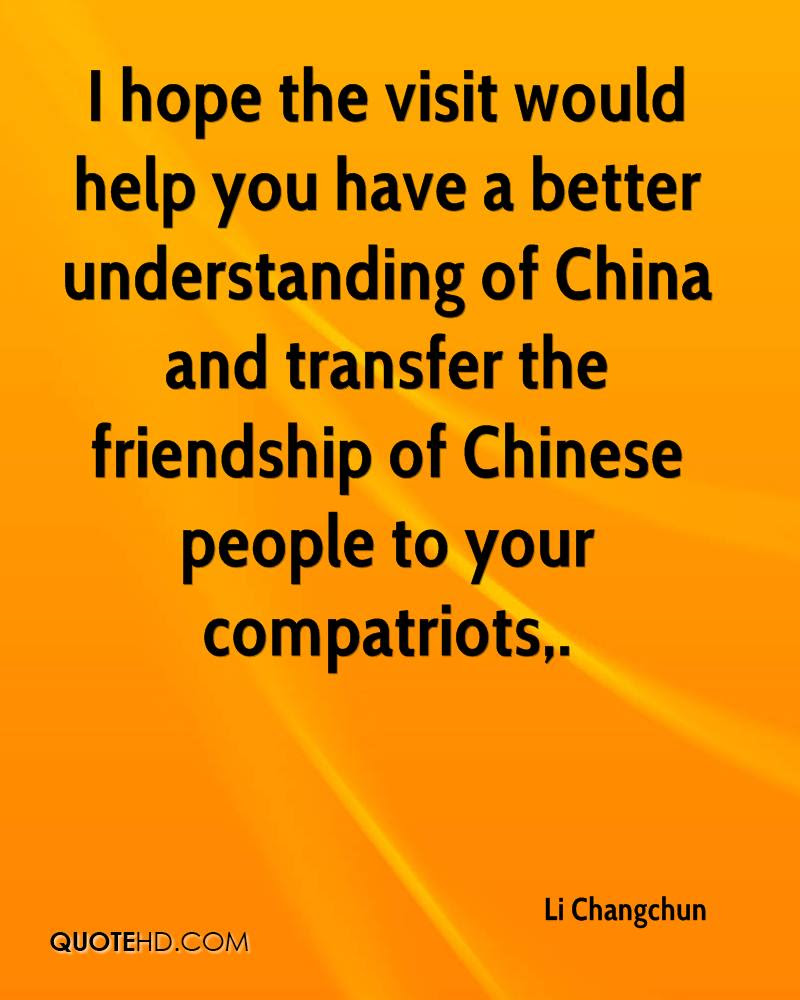 Li Changchun Friendship Quotes Quotehd