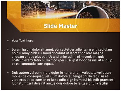 Steel Industry Powerpoint Template Background Subscriptiontemplates Com