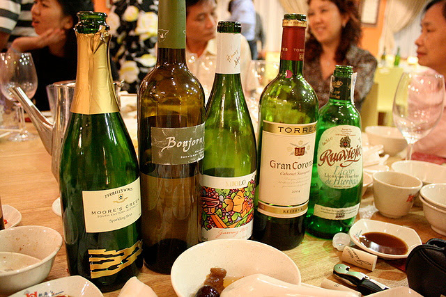 Wines at our table