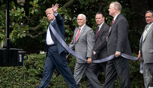 People Are Making Trump Photos With Extremely Long Tie To Annoy The President