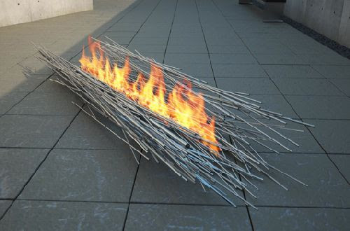 Anna Colombo's Outdoor Fire Sculpture | Home Design Find