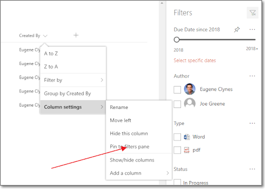 SharePoint filters pane - New Peak Solutions