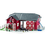 Schleich Farm World Large Red Barn with Animals and Accessories