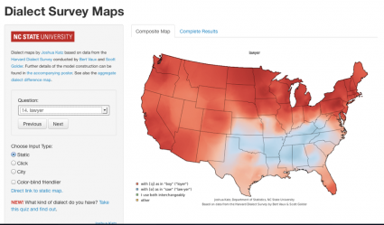Behind the dialect map interactive: How an intern created The New York Times' most popular piece of content in 2013 | Knight Lab | Northwestern University