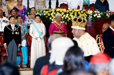 Princess Masako and Prince Naruhito attend Tonga