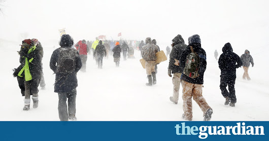 Standing Rock activists hold out against heavy snow and fierce winds | US news | The Guardian
