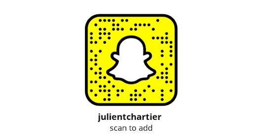 Add me on Snapchat! Username: julientchartier