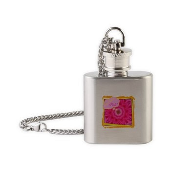 Geaux Wear Pink! Flask Necklace